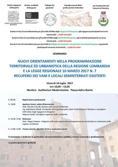 seminario: recupero vani e locali seminterrati esistenti