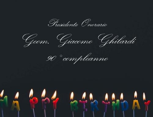 A cena con il coordinamento: i 90 anni del geometra Giacomo Ghilardi